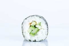 Kappa maki sushi against white background Stock Images