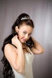 kappabröllopkvinna royaltyfri bild