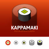 Kappamaki icon in different style Stock Image