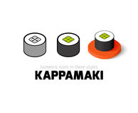 Kappamaki icon in different style Royalty Free Stock Photos