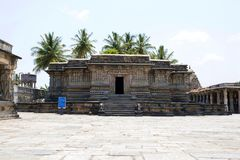 Kappe Channigraya temple on the south of Chennakeshava temple, Belur, Karnataka. The temple was built by Queen Shantala Devi in 11. Kappe Channigraya temple on royalty free stock photo