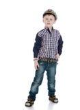 Kappe des kleinen Jungen Marine Stockfoto