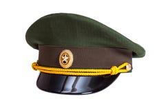 Kappe des russischen Offiziers in der Armee Lizenzfreies Stockbild