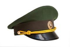 Kappe des russischen Offiziers in der Armee Lizenzfreie Stockfotografie