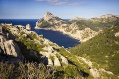 Kappe Formentor auf Majorca Stockbild
