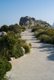 Kappe Formentor auf Mallorca-Insel lizenzfreie stockfotos