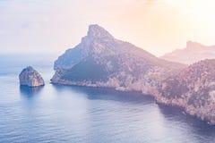 Kappe Formentor, Majorca Stockbild