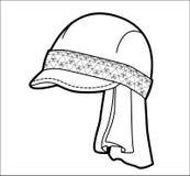 Kappe mit geometrischem Muster Lizenzfreie Stockfotos