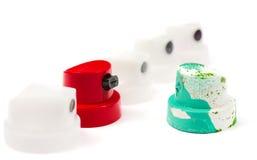 Kappen für Dosen Farbe Stockfotografie