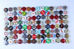 Kappen van bier en drank royalty-vrije stock foto's