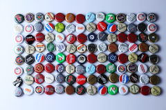 Kappen van bier en drank royalty-vrije stock foto