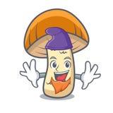 Kappenboletuspilz-Charakterkarikatur der Elfe orange Stockbild