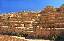 Kapplöpningsbanamoment och platser i den Caesarea Maritima nationalparken Royaltyfri Foto