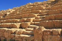 Kapplöpningsbanamoment och platser i den Caesarea Maritima nationalparken Arkivfoto