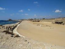 Kapplöpningsbanan på Caesarea Royaltyfri Foto