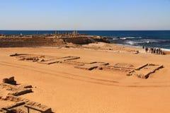 Kapplöpningsbana i den Caesarea Maritima nationalparken Royaltyfria Bilder