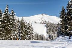 kaprun Австралии alps видит, что лыжа склоняет zell Стоковое Изображение