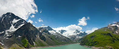 Kaprun area, lake and Alps Royalty Free Stock Images