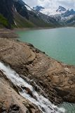 Kaprun area, lake and Alps Stock Photo