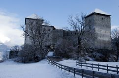 Kaprun Castle in winter, Austria Royalty Free Stock Images