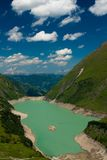 Kaprun Dam, lake and Alps Royalty Free Stock Photos
