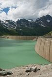 Kaprun Dam, lake and Alps Stock Image