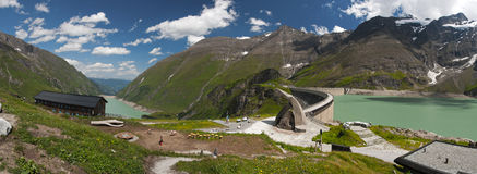 Kaprun Dam, lake and Alps Stock Photography