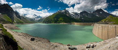 Kaprun Dam, lake and Alps Royalty Free Stock Photography