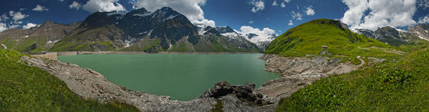 Free Kaprun Dam, Lake And Alps Stock Photos - 23450183