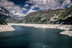Kaprun dam. Lake-the highest power plant in Austria Stock Photo