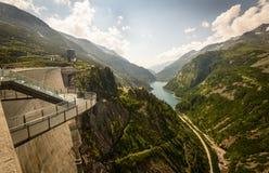 Kaprun dam. Wall-the highest power plant in Austria Stock Photo