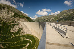 Kaprun dam. Wall-the highest power plant in Austria Royalty Free Stock Photo