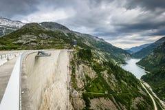 Kaprun dam. Wall-the highest power plant in Carinthia,Austria Royalty Free Stock Photography