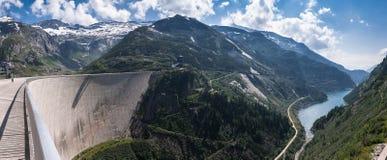 Kaprun. Dam wall-the highest power plant in Carinthia,Austria Stock Image