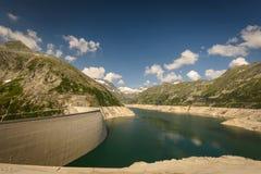 Kaprun. Dam wall-the highest power plant in Carinthia,Austria Royalty Free Stock Photography