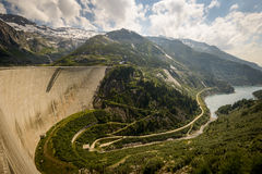 Kaprun. Dam wall-the highest power plant in Carinthia,Austria Stock Images