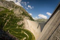 Kaprun. Dam wall-the highest power plant in Carinthia,Austria Royalty Free Stock Photos
