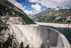 Kaprun dam. Wall-the highest power plant in Carinthia,Austria Stock Photo