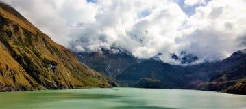 Kaprun Dams in Austria. Stunning scenery of dams high in the mountains Stock Image
