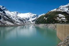 Kaprun High Altitude Reservoir Stock Images