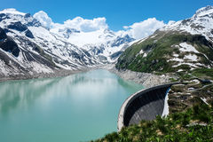 Kaprun High Altitude Reservoir Royalty Free Stock Photo