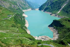 Kaprun High Altitude Storage Lake Royalty Free Stock Images