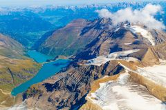 Kaprun reservoir lake aerial view, Austria Stock Photo
