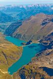 Kaprun reservoir lake aerial view, Austria Stock Photos