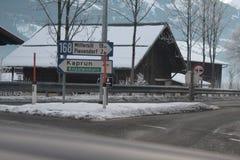 Kaprun tecken Fotografering för Bildbyråer