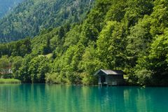 Kapruner lake in Kaprun Royalty Free Stock Image