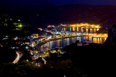Kapsali Bay at Night royalty free stock photos