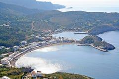Kapsali by på den Kythera ön, Grekland Royaltyfria Bilder