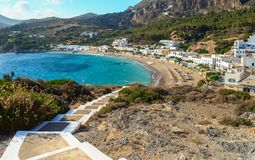 Kapsali village at Kithera island in Greece. Stock Images