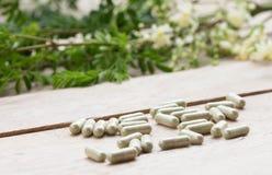 Kapsel för växt- medicin Arkivfoton